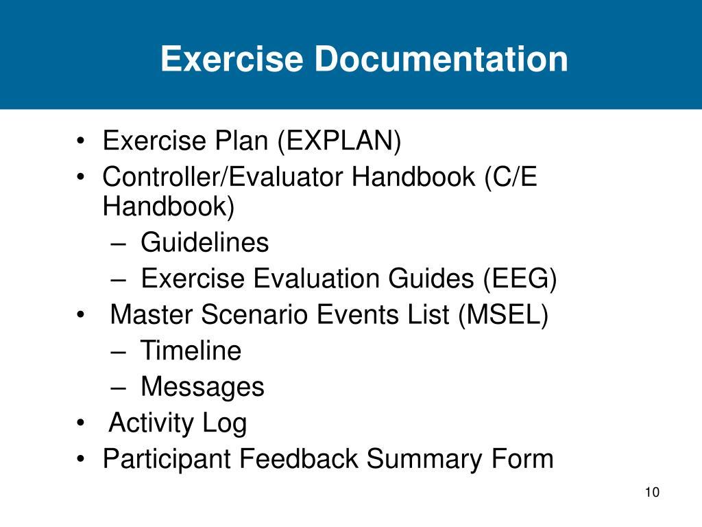 Exercise Documentation