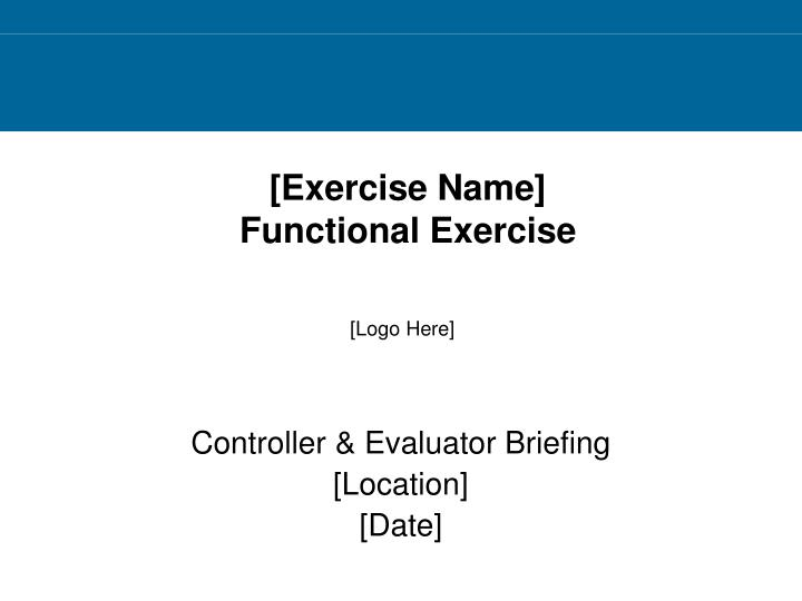Exercise name functional exercise