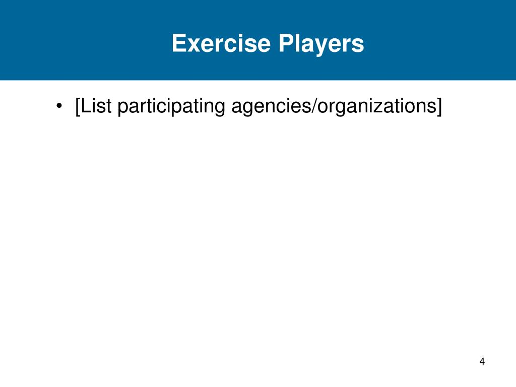 Exercise Players
