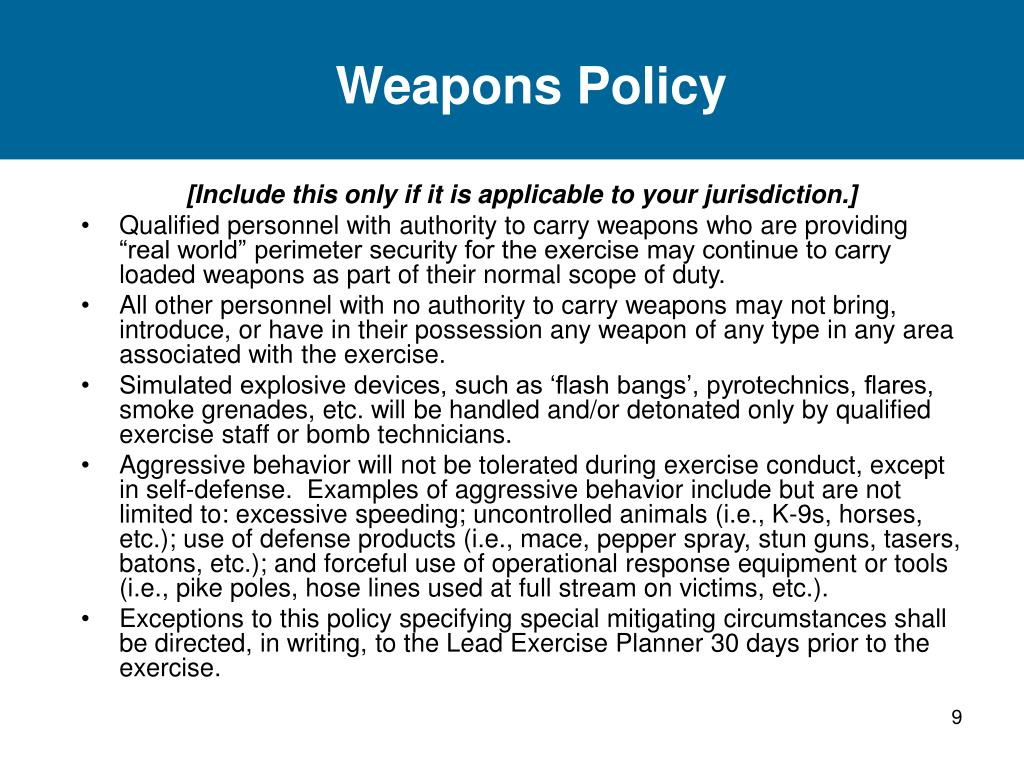 Weapons Policy