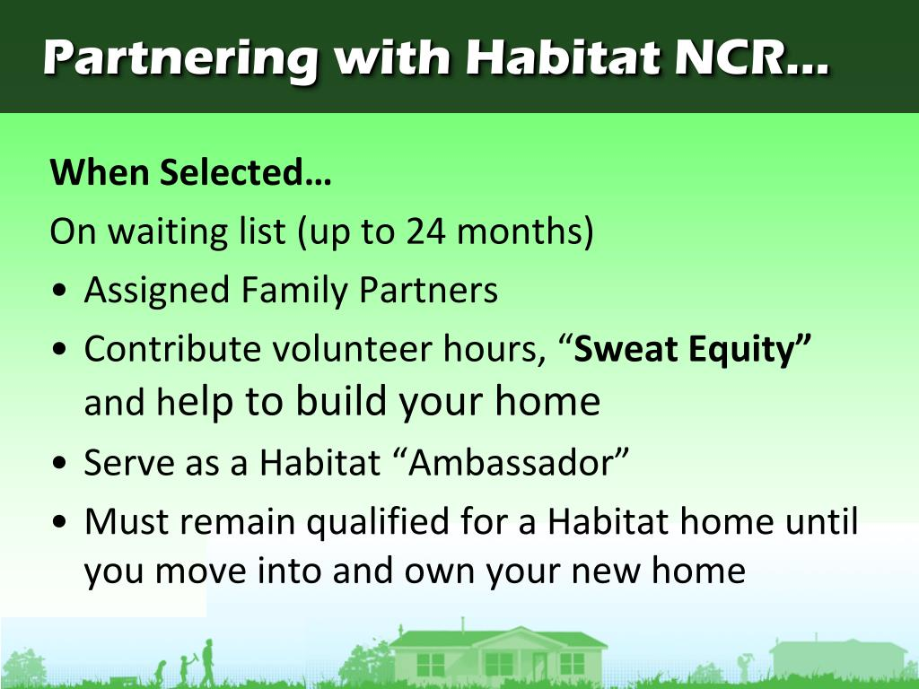 Partnering with Habitat NCR...