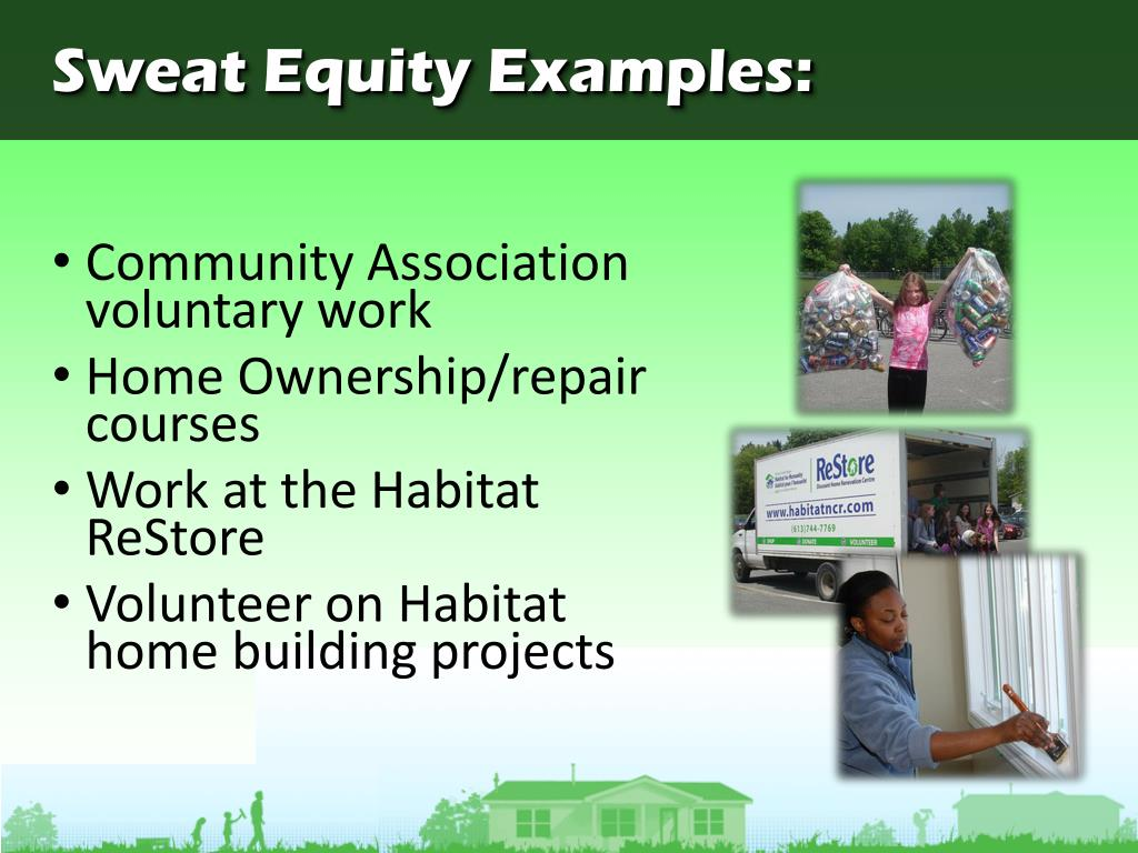 Sweat Equity Examples: