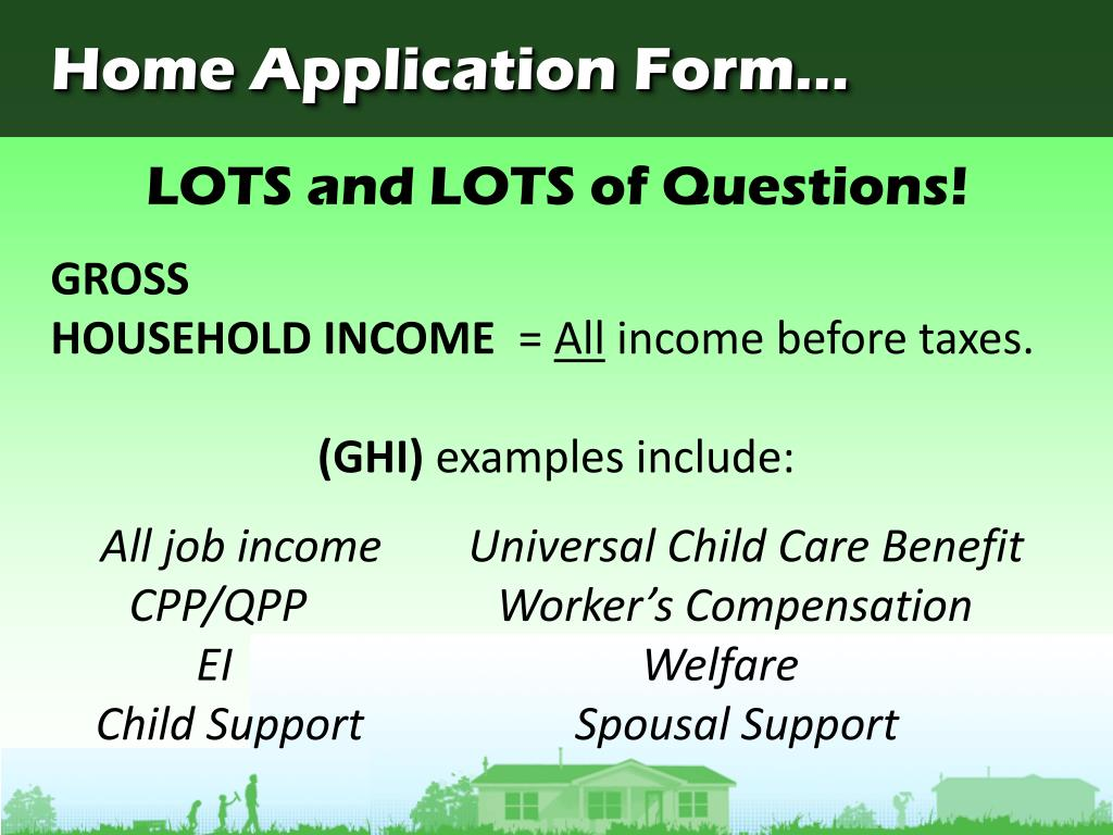 Home Application Form...