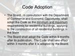 code adoption