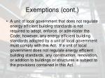exemptions cont7