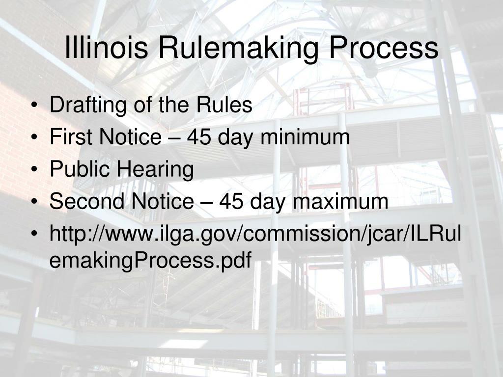 Illinois Rulemaking Process