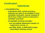 certification individuals9