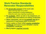 work practice standards renovator responsibilities12