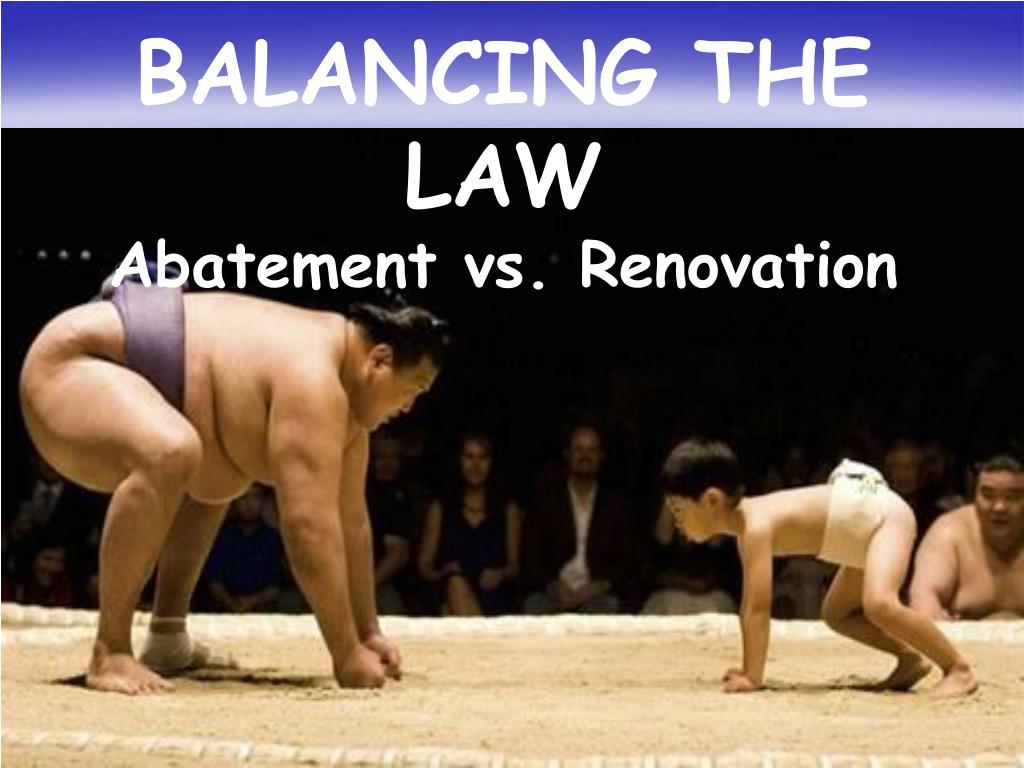BALANCING THE LAW
