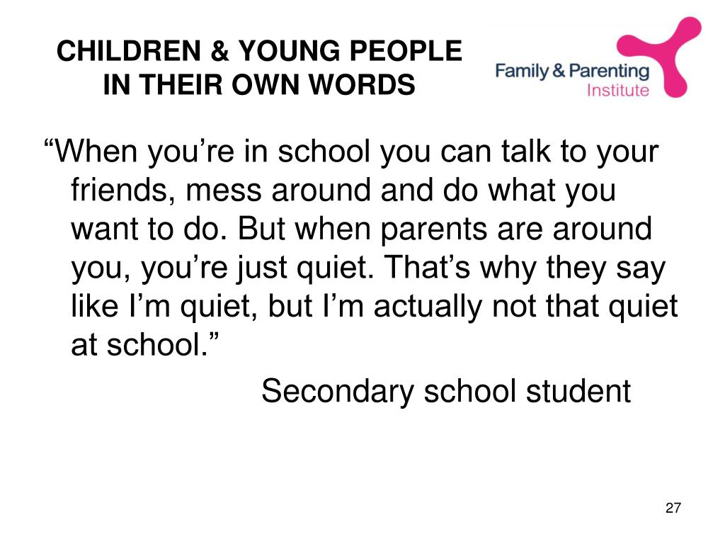 CHILDREN & YOUNG PEOPLE IN THEIR OWN WORDS