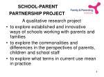 school parent partnership project