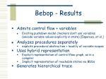 bebop results6