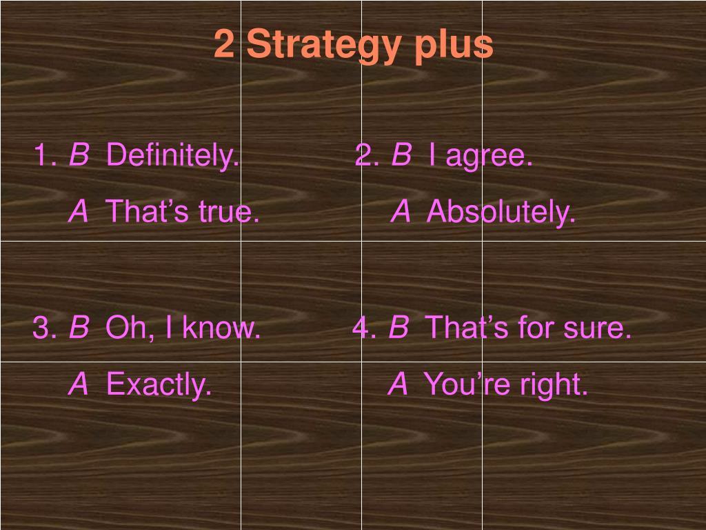 2 Strategy plus