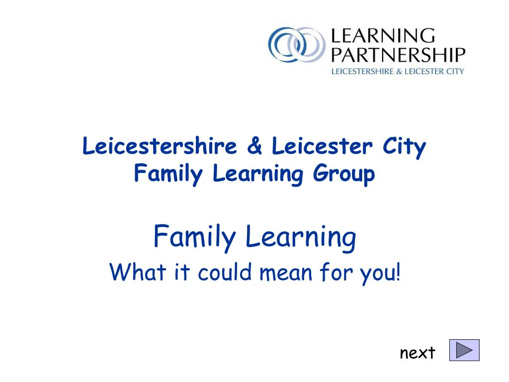 Leicestershire & Leicester City Family Learning Group