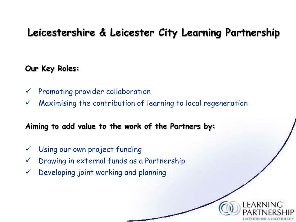 Leicestershire & Leicester City Learning Partnership