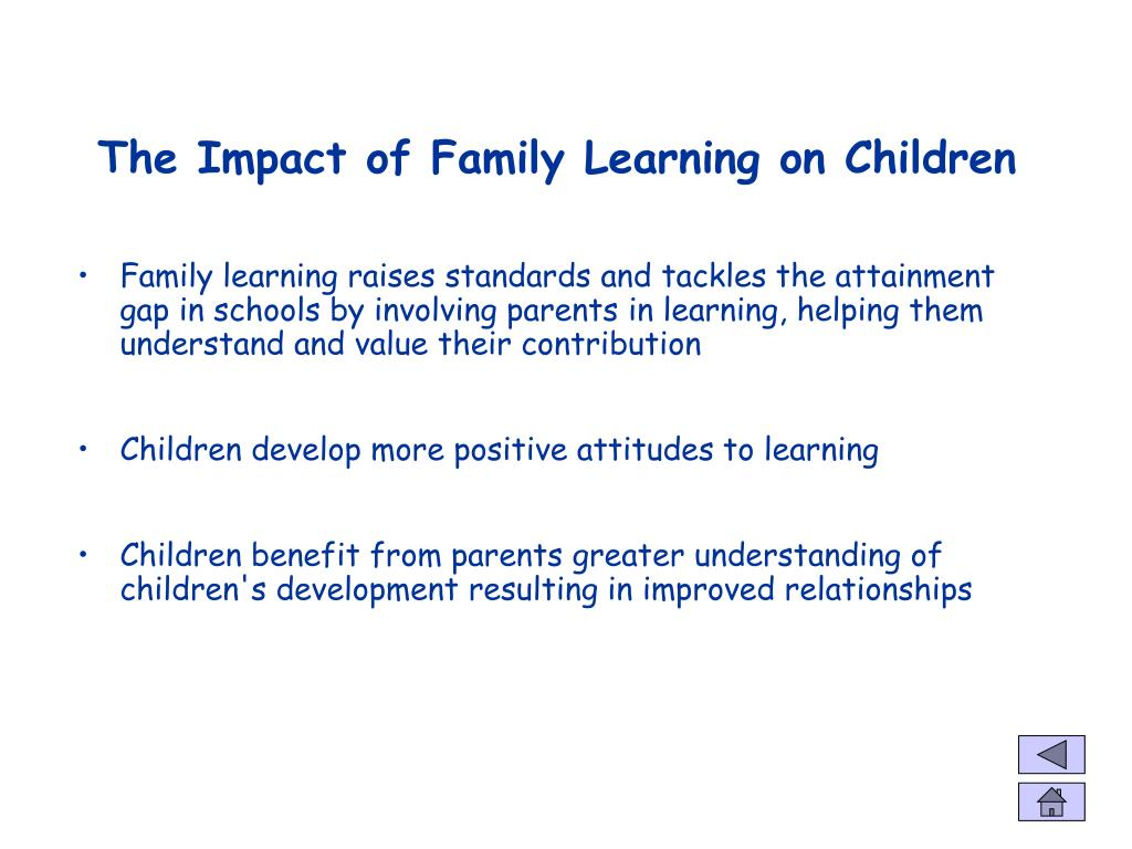 The Impact of Family Learning on Children