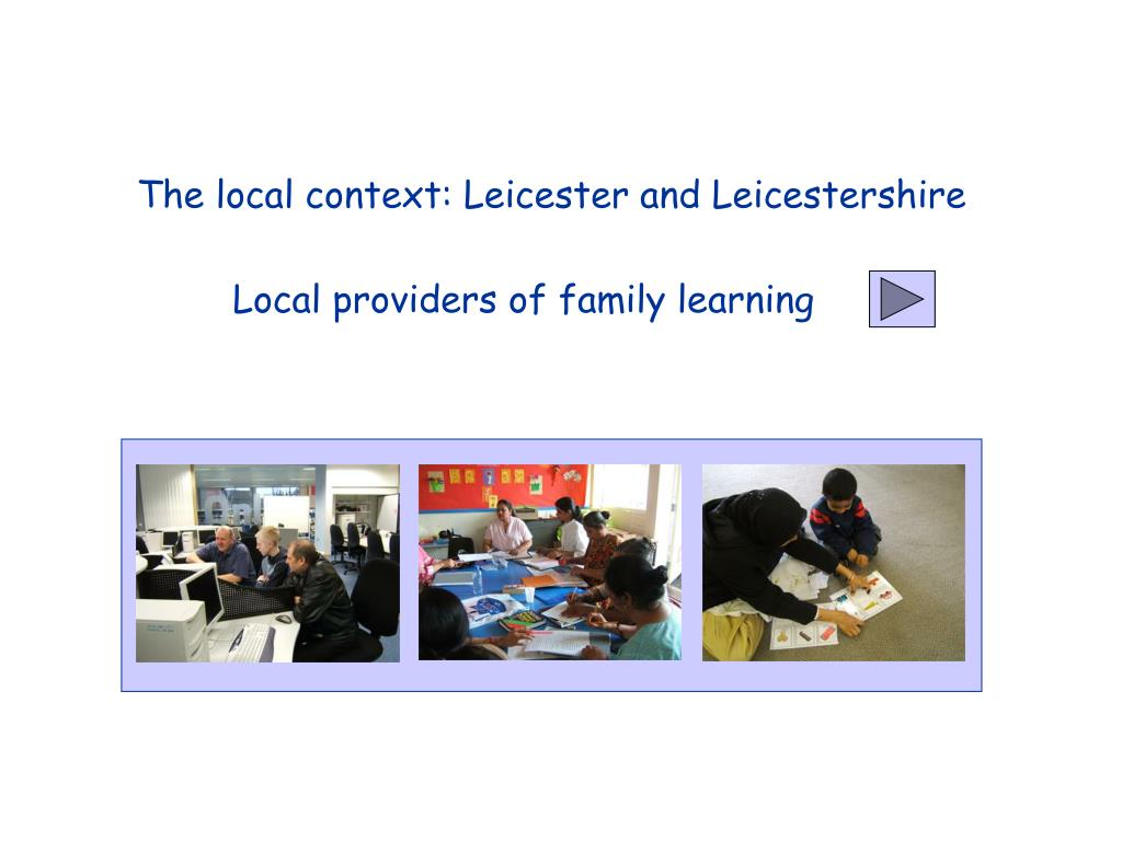 The local context: Leicester and Leicestershire