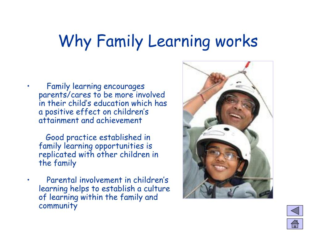 Why Family Learning works