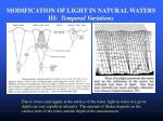 modification of light in natural waters iii temporal variations