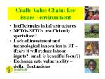 crafts value chain key issues environment