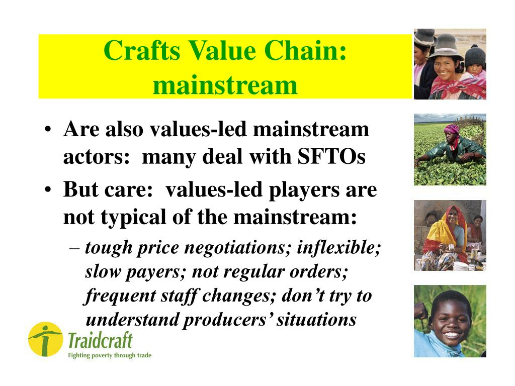 Crafts Value Chain: mainstream