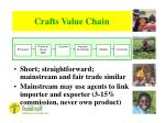 crafts value chain