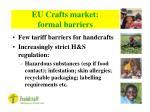 eu crafts market formal barriers