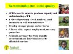 recommendations social quality