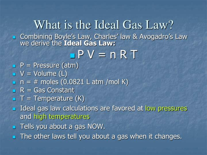 What is the Ideal Gas Law?