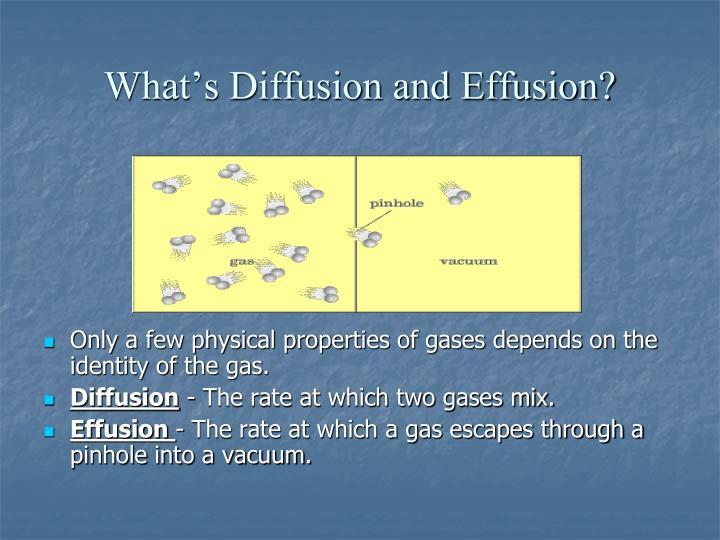 What's Diffusion and Effusion?