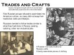trades and crafts