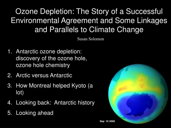 ozone depletion in the arctic essay Free essay: ozone layer depletion ozone is a natural trace component of the atmosphere it is created continuously through the action of sunlight and oxygen.