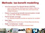 methods tax benefit modelling