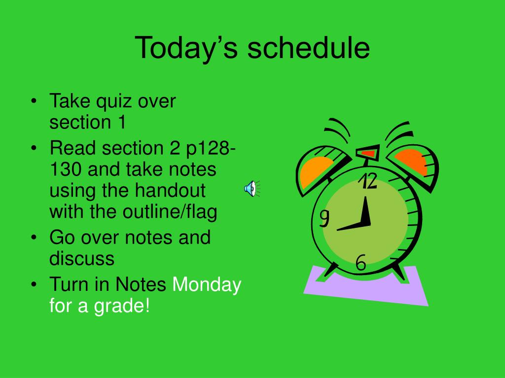 today s schedule l.