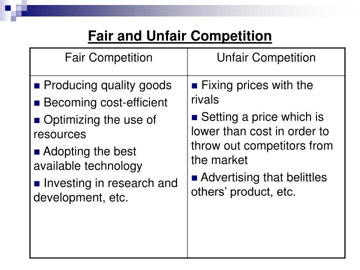 Image result for unfair competition definition