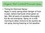 organic pest control dormant spray