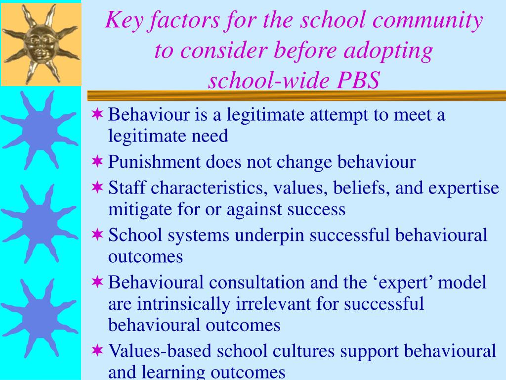 Key factors for the school community