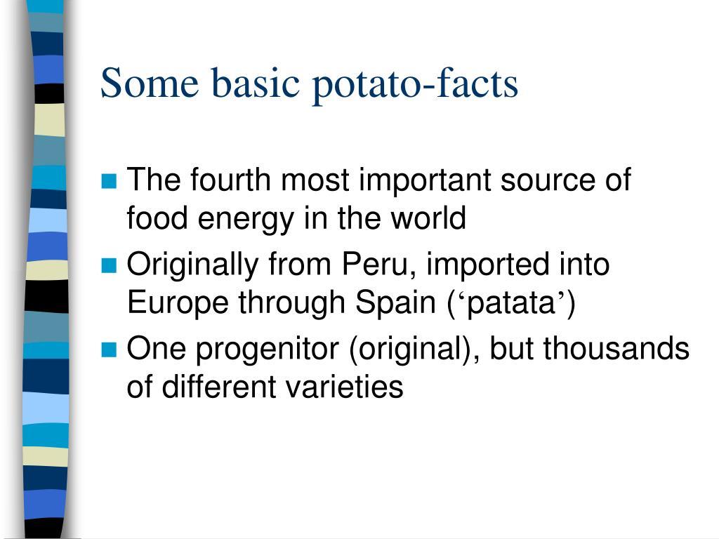 Some basic potato-facts