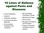 10 lines of defense against pests and diseases