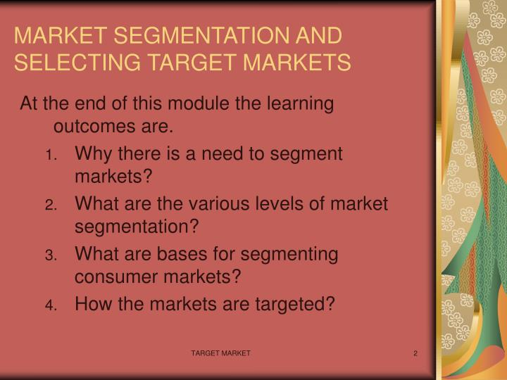 disney segmentation criteria that will affect your target market selection Marketing target market target market selection target marketing tailors a marketing mix for one or more segments identified by market segmentationtarget marketing contrasts with mass marketing, which offers a single product to the entire market.
