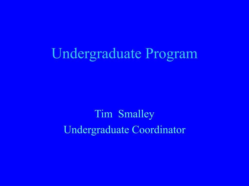 undergraduate program l.