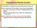 experimental results contd1