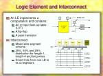 logic element and interconnect