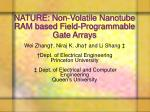 nature non volatile nanotube ram based field programmable gate arrays
