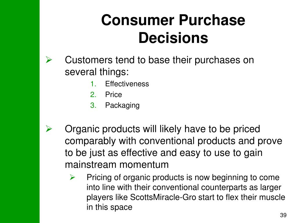 Consumer Purchase Decisions