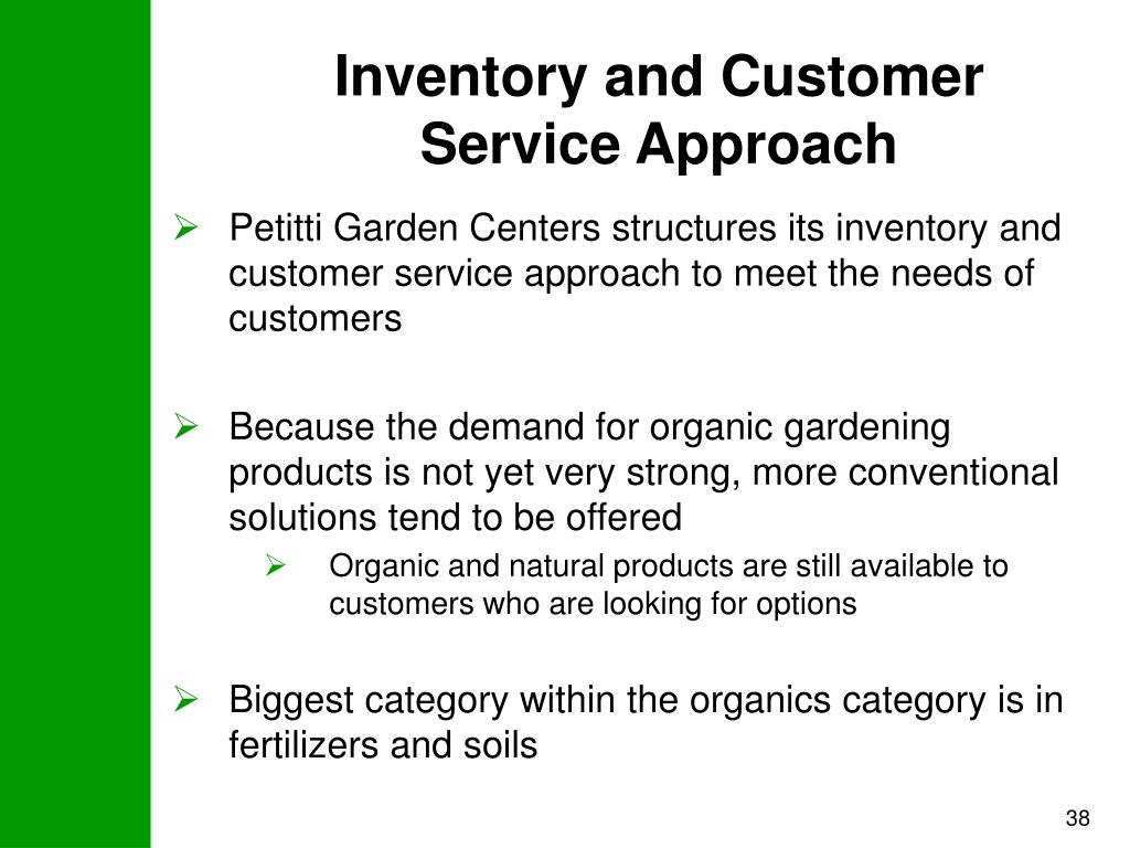 Inventory and Customer Service Approach
