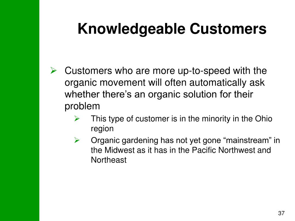 Knowledgeable Customers