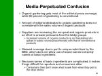 media perpetuated confusion