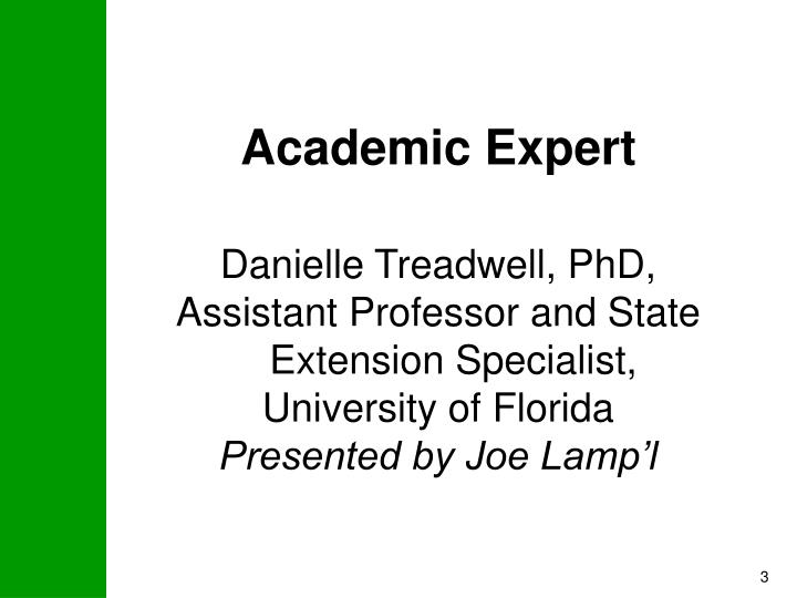 Academic Expert