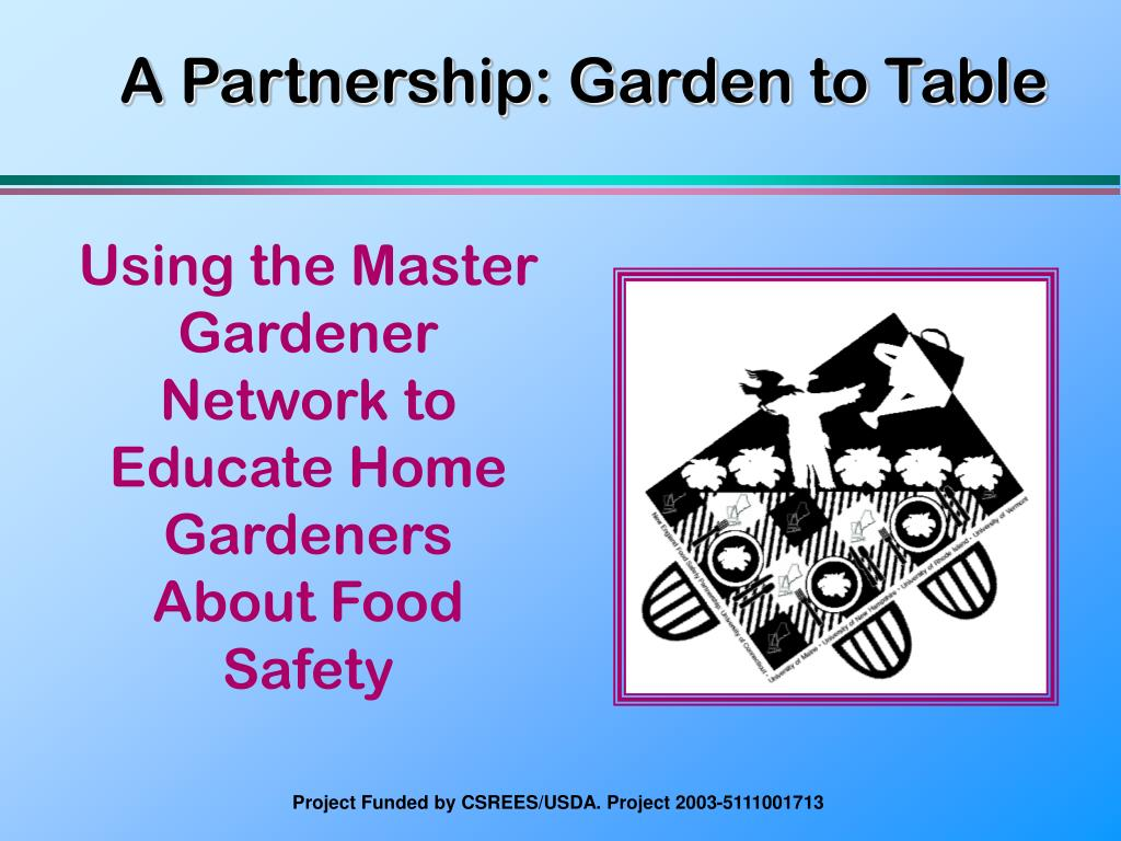 a partnership garden to table l.